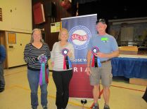 Our nosework practice group must've paid off- we all got ribbons!
